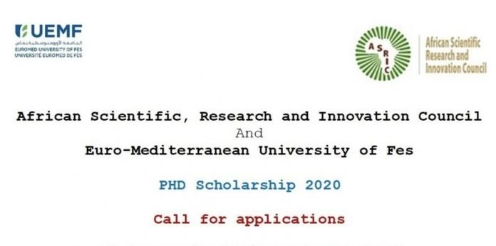 African Scientific, Research  and Innovation Council (ASRIC) Scholarship Scheme 2020 for African PhD students (Fully Funded)