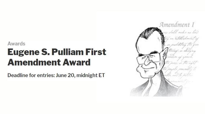 Eugene S. Pulliam First Amendment Award 2020 ($10,000 cash award)