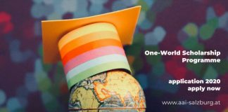 AAI One-World Scholarship Programme 2020/2021 for Students from Developing Countries in Austria