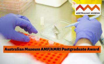 Call for Applications: AMF/AMRI Postgraduate Fellowship Award 2020 (up to $4,000)