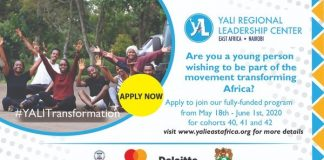 2020 YALI East Africa Regional Leadership Program Cohorts 40, 41 & 42 for young Leaders in East & Central Africa  (Fully Funded)
