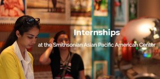 Smithsonian Asian Pacific American Center Internship – Fall 2020 (Stipend available)