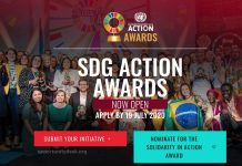 UN Sustainable Development Goals (SDG) Action Awards 2020 for Outstanding Initiatives