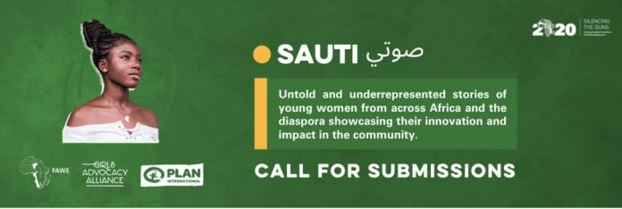 """Call for Submissions: African Union Office of the Youth Envoy Sauti صوتي"""" Publication of 25 young women contributions"""