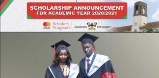 Deadline Extended: Makerere University MasterCard Foundation Scholars Program 2020/2021 for Undergraduate Study in Uganda (Fully Funded)