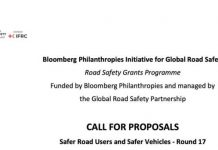 Call for Proposals: Bloomberg Initiative for Global Road Safety Grant Programme 2020 (120,000 CHF in Funding) – Round 17