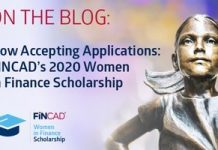 FINCAD Women in Finance Scholarship Program 2020 (US$20,000 for graduate-level studies)