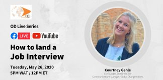 OD Live with Courtney Gehle: How to Land a Job Interview – May 26, 2020