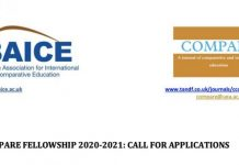 British Association of International and Comparative Education (BAICE) COMPARE Fellowship 2020/2021 (Fully Funded to UK)