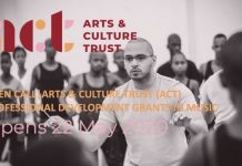 2020 Arts & Culture Trust (ACT) Professional Development Grant in Music