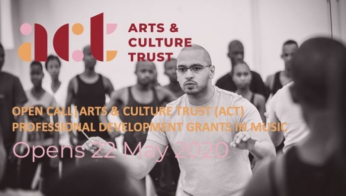 2020 Arts & Culture Trust (ACT) Professional Development Grant in Music