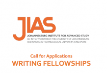 Johannesburg Institute for Advanced Study (JIAS) Writing Fellowships 2021 (Funded)