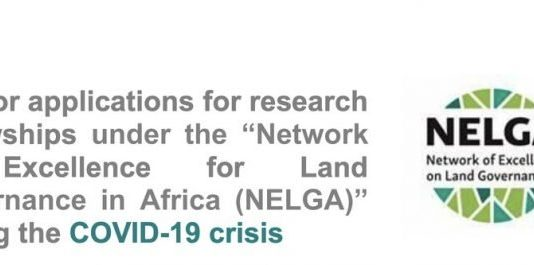 DAAD/NELGA Research COVID-19 Fellowships for young African Students