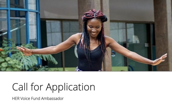 Y+ Global HER Voice Fund Ambassadors Program 2020 for young African Women