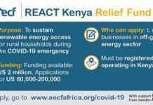 AECF REACT Kenya COVID-19 pandemic Relief Fund