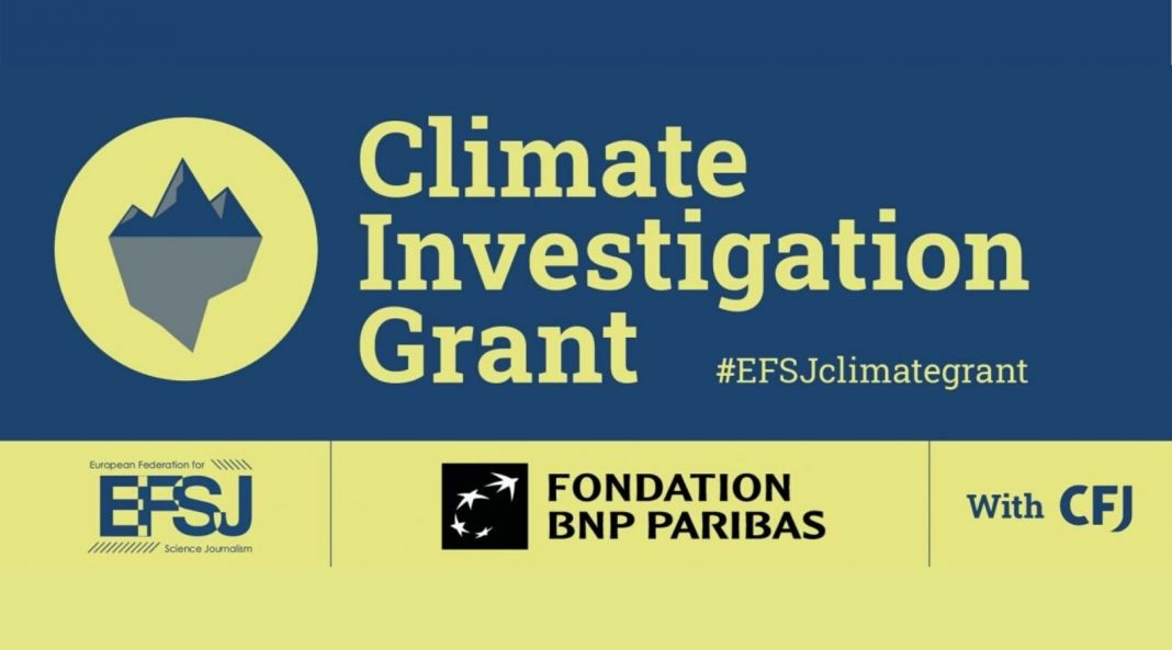 EFSJ Climate Investigation Grant 2020 for Journalists in Europe (Up to 12,000 euros)