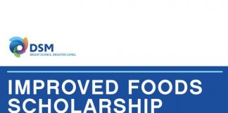 DSM: Improved Foods Scholarship 2020 for young Entrepreneurs (Fully Funded to attend the One Young World Summit in Munich, Germany)