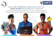 LSETF/USADF Employability Training Programme 2020 for Lagos State Youths