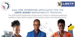 LSETF/USADF Employability Training Programme 2020 for Lagos State Youths