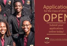African Leadership Academy (ALA) 2021 for Young Leaders across Africa (Two-Year Pre-University Program) – financial assistance available.