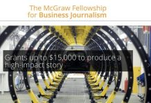 Harold W. McGraw, Jr. Center for Business Journalism Fellowship 2021 for Business Journalists ($USD $15,000)