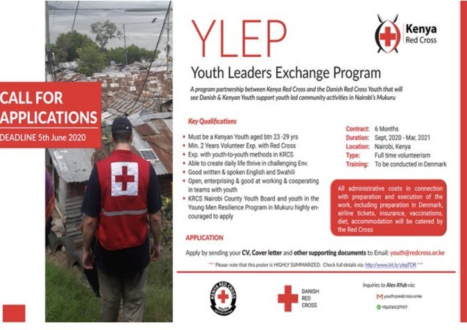 Kenya Red Cross Youth Leaders Exchange Programme 2020 for young Kenyans (Fully Funded)