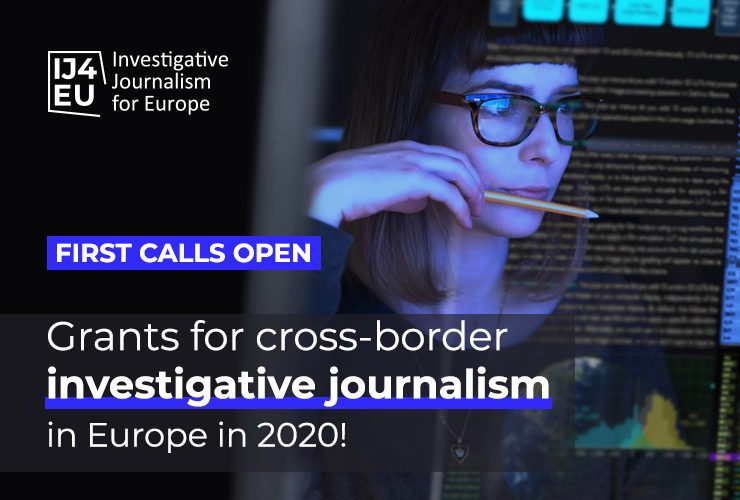 IJ4EU Investigation Support Scheme 2020 for New Investigative Projects in Europe (up to €50,000)