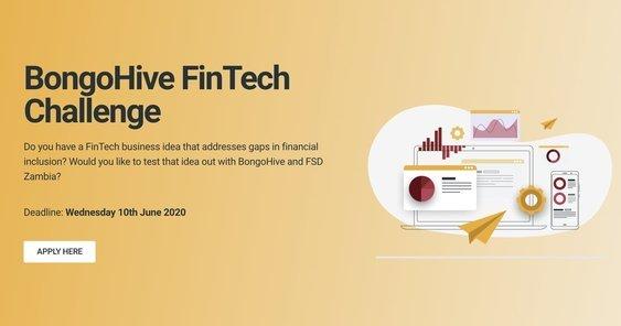 BongoHive FinTech Challenge 2020 for Fintech startups in Zambia