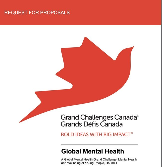 Grand Challenges Canada's Global Mental Health Youth Seed Program 2020 (Up to $250,000 CAD in Grants)