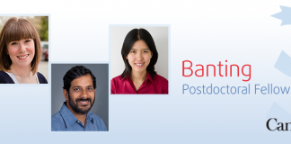 Government of Canada Banting Postdoctoral Fellowship Programme 2020/2021 (up to $70,000 per year)