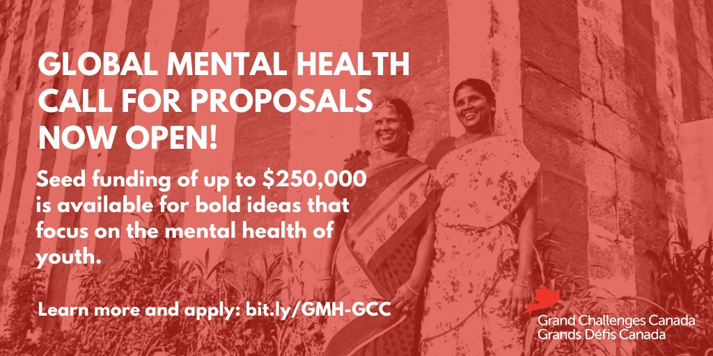 Global Mental Health Program 2020 Seed Funding for Innovative Solutions (Up to $250,000 CAD)