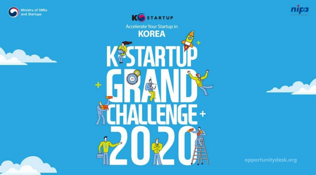 K-Startup Grand Challenge 2020 for Global Startups to enter Korean and international markets (fully-funded)