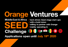 Orange Ventures MEA Seed Challenge 2020 for Entrepreneurs in the Middle East and Africa (€500,000)