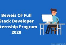 Beweis C# Full Stack Developer Internship Program 2020 in France (Stipend available)