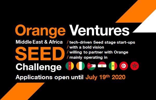 Orange Digital Ventures Africa & Middle East Seed Challenge 2020 (Up to €150,000)