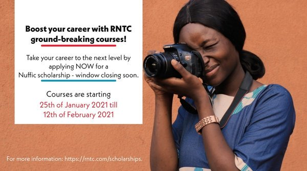 RNTC Scholarships 2021 for media and communications professionals to study in the Netherlands (Funded)