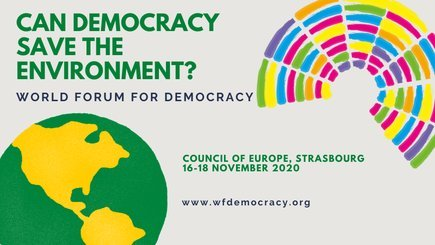 Call for Initiatives: Council of Europe's 2020 World Forum for Democracy  (Funded to Strasbourg, France)