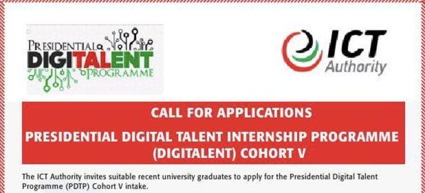 Government of Kenya Presidential Digital Talent Programme Cohort V (12 Month ICT Program for Kenyan Graduates).