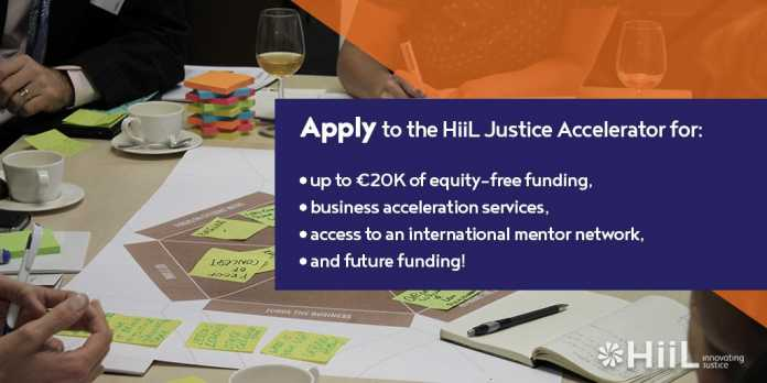 HiiL Justice Accelerator Innovating Challenge 2020/2021 for Justice Startups Worldwide (10,000 EUR non-equity Funding)