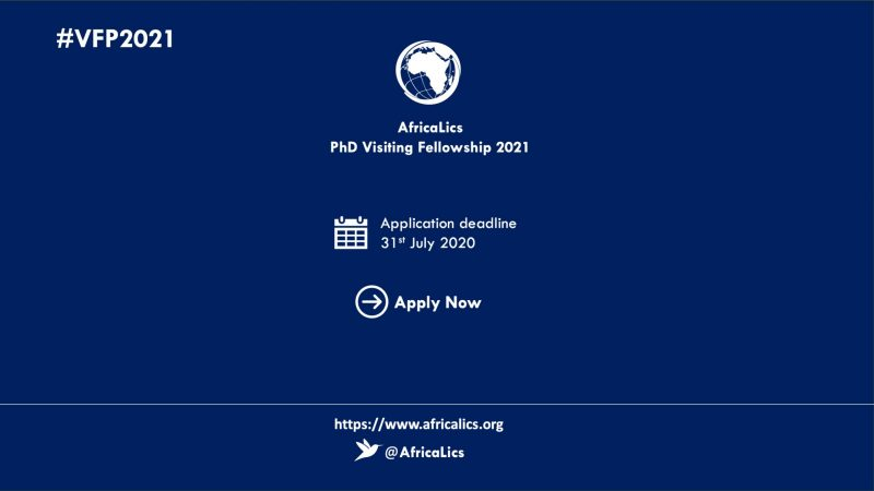 AfricaLics PhD Visiting Fellowship Programme 2021 at Aalborg University, Denmark (Funding available)