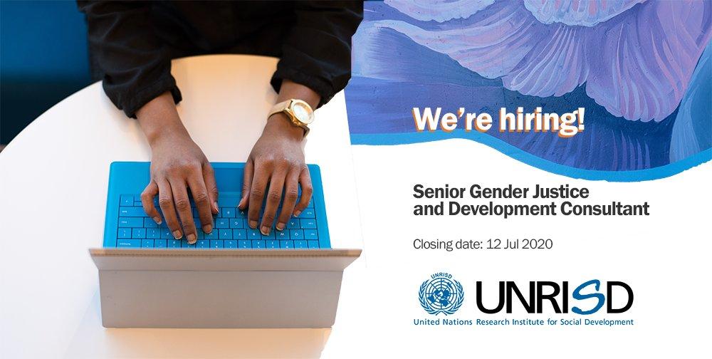 UNRISD is seeking a Senior Gender Justice and Development Consultant