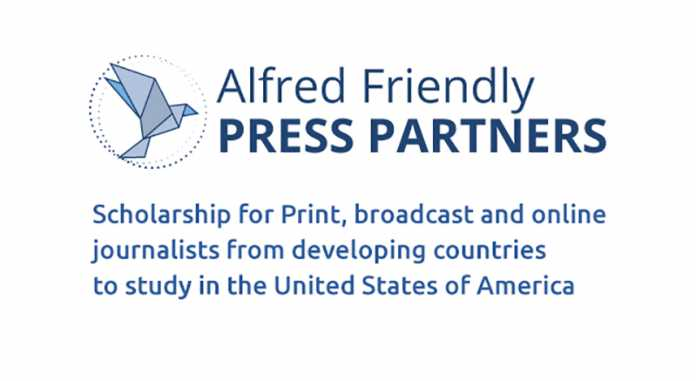Alfred Friendly Press Partners Fellowship 2020 for journalists from developing countries (Funded to study in the USA)