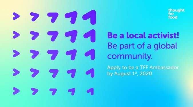 Thought For Food (TFF) Ambassador Program 2020 for young changemakers