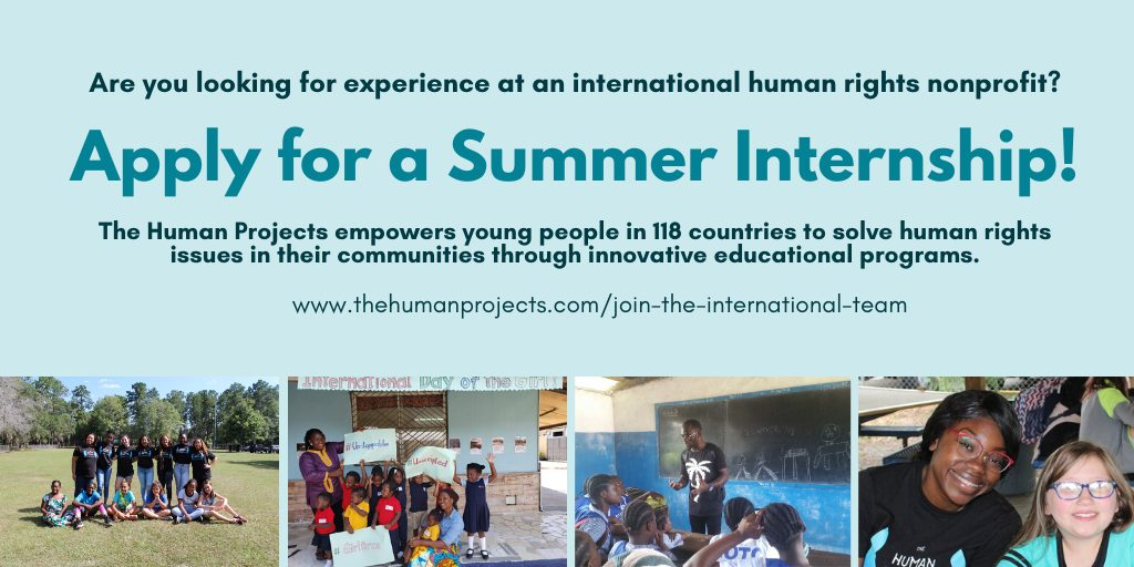 Remote Summer Internship 2020 at International Human Rights Nonprofit