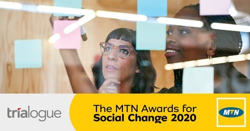 Call for Entries: MTN Awards for Social Change 2020 (R1 million for South African non-profit Organisations )