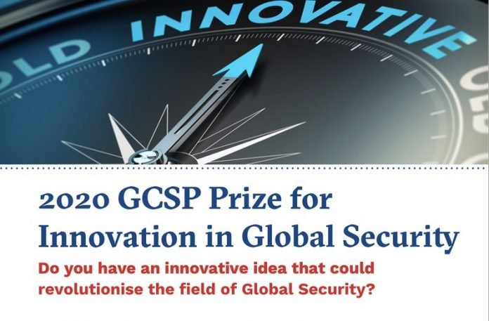 Geneva Centre for Security Policy (GCSP) 2020 Prize for Innovation in Global Security (CHF 10'000 Prize)