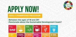 Nigeria Youth SDGs Network (NGYouthSDGs) Champions Program 2020