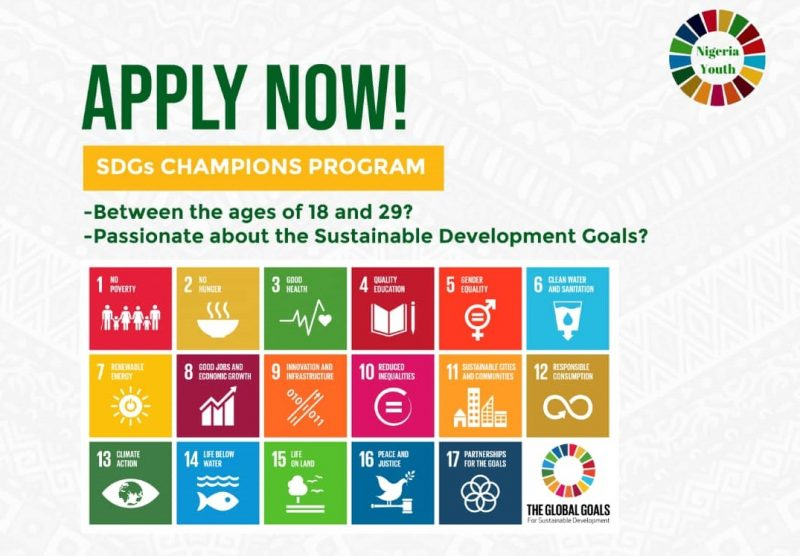 Nigeria Youth SDGs Network (NGYouthSDGs) Champions Program 2020