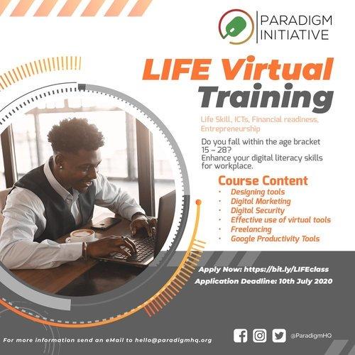 Paradigm Initiative LIFE Virtual Training Program 2020 for Nigerian Youths