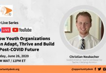 How Youth Organizations can Adapt, Thrive & Build a Post-COVID Future – OD Live with Christian Neubacher